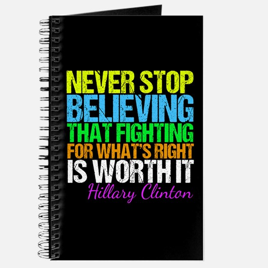 Hillary Motivational Fight Journal