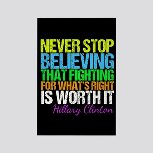 Hillary Motivational Fight Rectangle Magnet