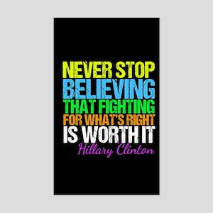 Hillary Motivational Fight Sticker (Rectangle)