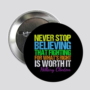 "Hillary Motivational Fight 2.25"" Button"