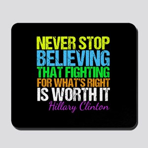 Hillary Motivational Fight Mousepad