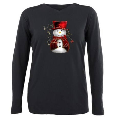 Cute Snowman in Red Velve T-Shirt