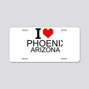 I Love Phoenix, Arizona Aluminum License Plate