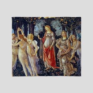 Botticelli: La Primavera Throw Blanket