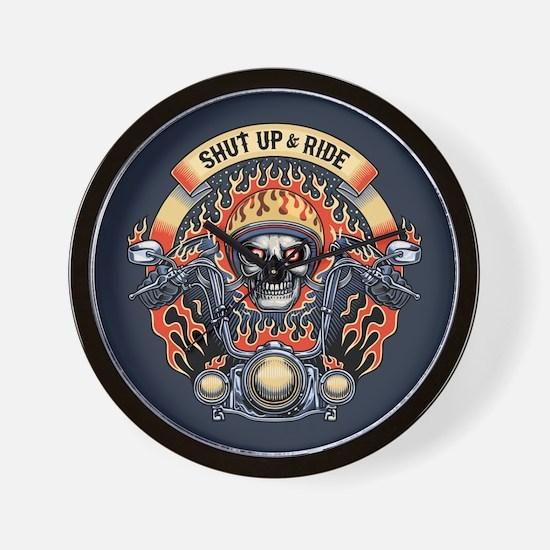 Shut Up & Ride -1116 Wall Clock
