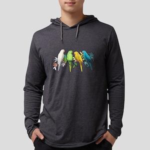 Indian Ringneck Parrots Long Sleeve T-Shirt