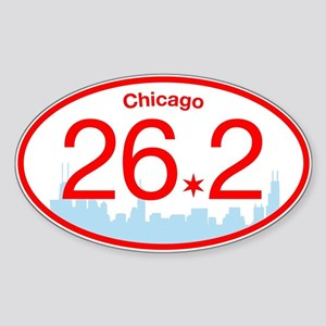 Chicago Marathon Bright Sticker