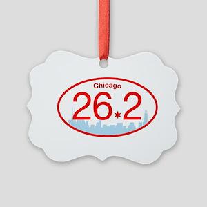 Chicago Marathon Bright Picture Ornament