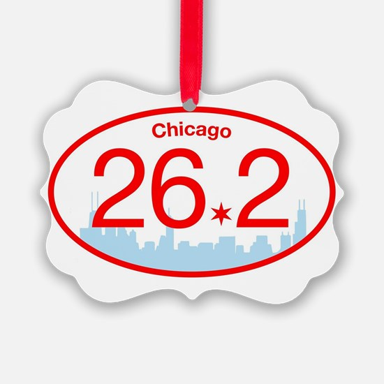 Chicago Marathon Bright Ornament