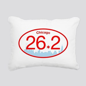Chicago Marathon Bright Rectangular Canvas Pillow