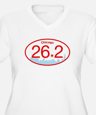 Chicago Marathon Bright Plus Size T-Shirt