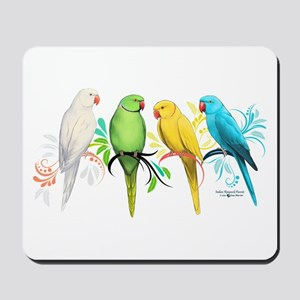 Indian Ringneck Parrots Mousepad