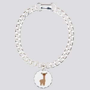 Christmas Llama Charm Bracelet, One Charm