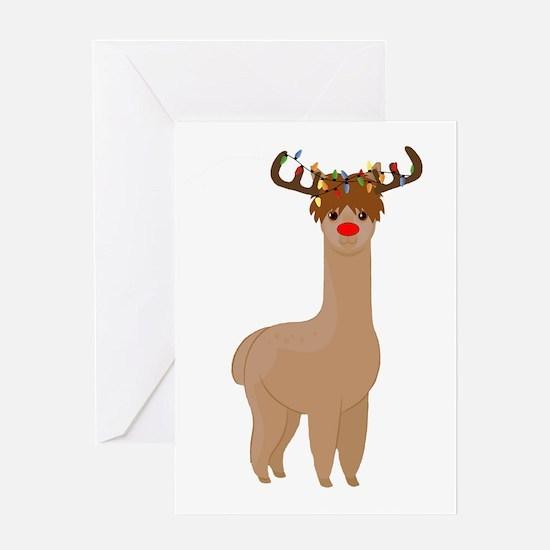 Christmas Llama Greeting Cards