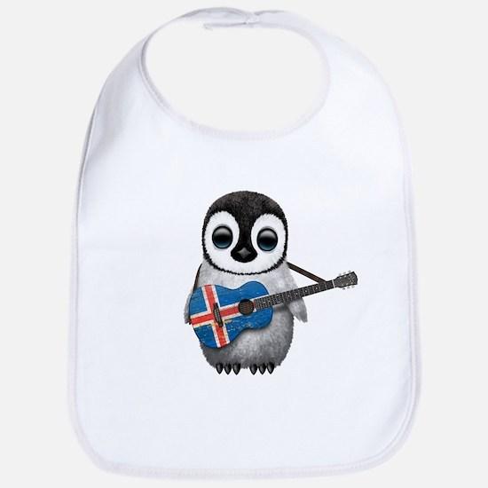 Baby Penguin Playing Icelandic Flag Guitar Baby Bi