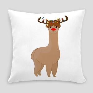 Christmas Llama Everyday Pillow