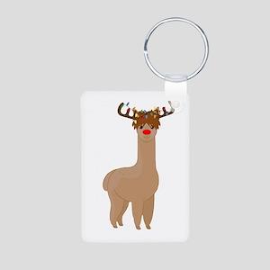 Christmas Llama Keychains