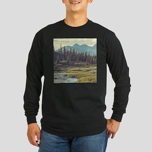 Mountain Meadow Long Sleeve Dark T-Shirt
