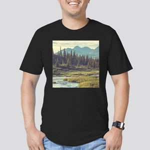 Mountain Meadow Men's Fitted T-Shirt (dark)