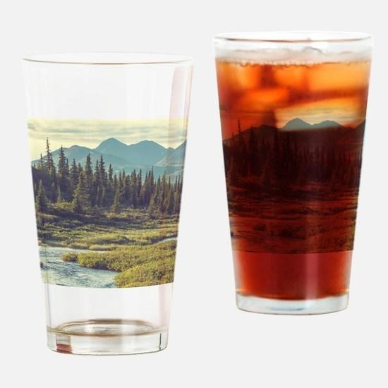 Mountain Meadow Drinking Glass