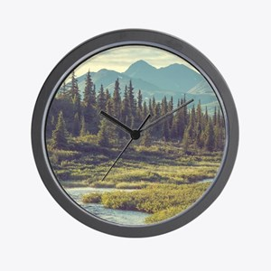 Mountain Meadow Wall Clock