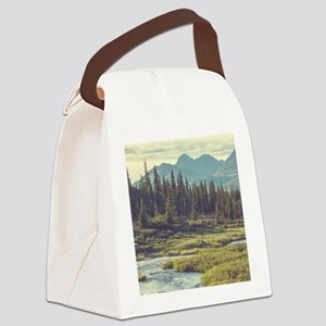 Mountain Meadow Canvas Lunch Bag