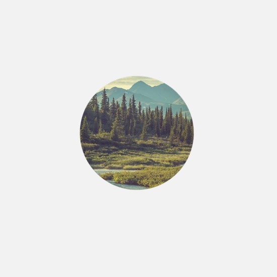 Mountain Meadow Mini Button