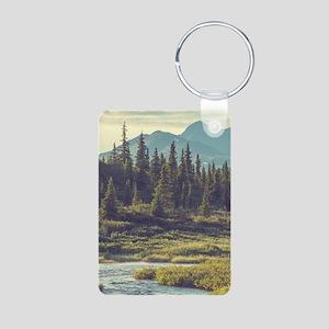 Mountain Meadow Aluminum Photo Keychain