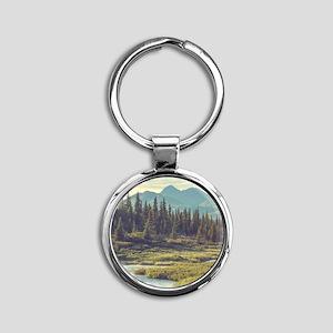 Mountain Meadow Round Keychain