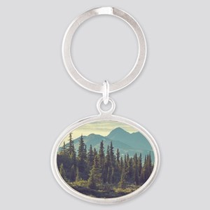 Mountain Meadow Oval Keychain