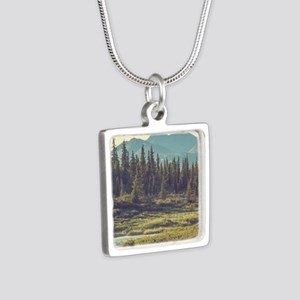 Mountain Meadow Silver Square Necklace