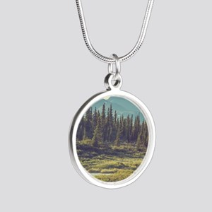 Mountain Meadow Silver Round Necklace