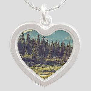 Mountain Meadow Silver Heart Necklace