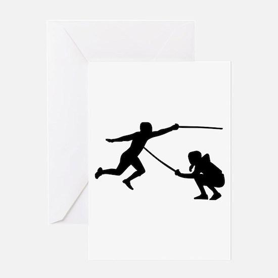 Fencing fencer Greeting Card