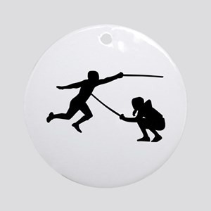 Fencing fencer Round Ornament