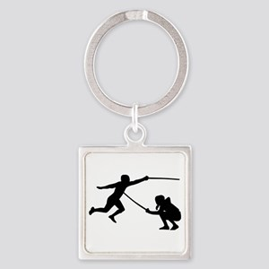 Fencing fencer Square Keychain