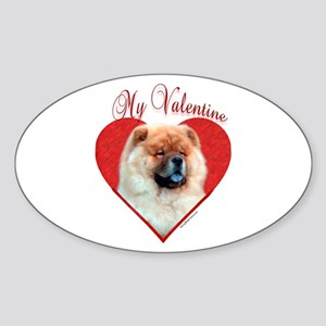 Chow Valentine Oval Sticker