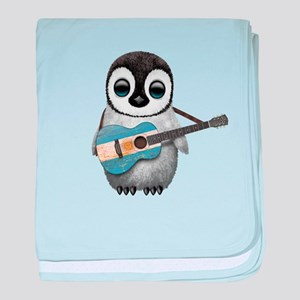 Baby Penguin Playing Argentine Flag Guitar baby bl