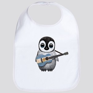 Baby Penguin Playing Argentine Flag Guitar Baby Bi