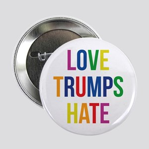 "GLBT Love Trumps Hate 2.25"" Button"