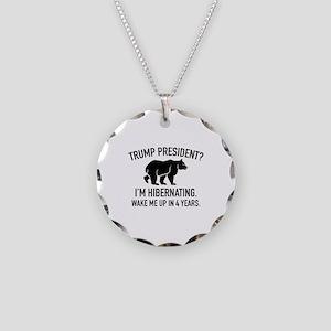 Trump Hibernation Necklace Circle Charm