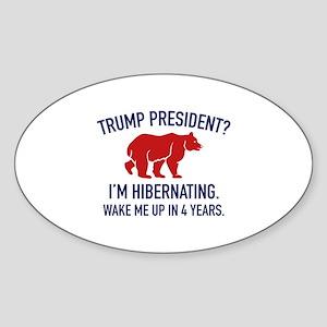 Trump Hibernation Sticker (Oval)