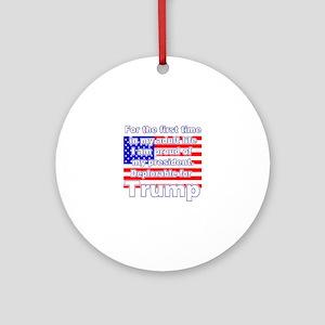 Deplorable for Trump Round Ornament