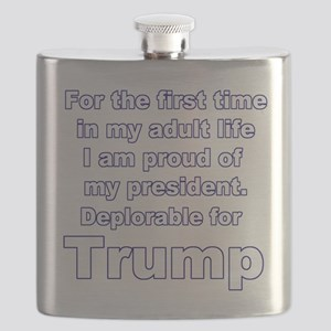 Deplorable for Trump 2 Flask