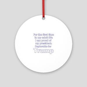Deplorable for Trump 2 Round Ornament