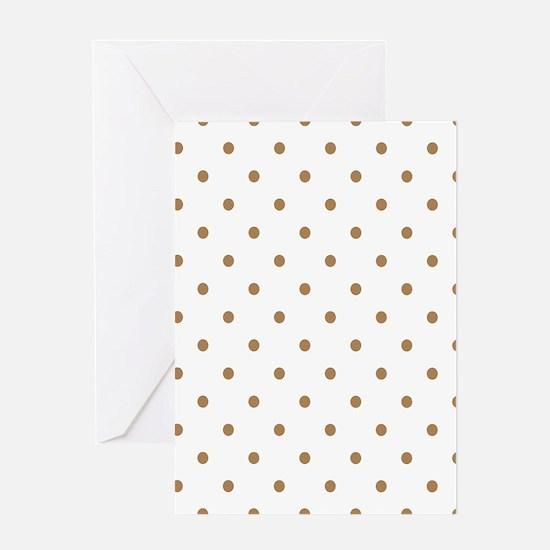 Brown, Ginger: Polka Dots Pattern (S Greeting Card