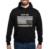 Not my president Dark Hoodies