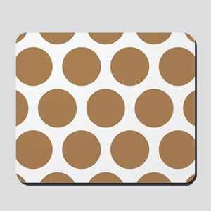 Polka Dots (Large): Ginger Mousepad