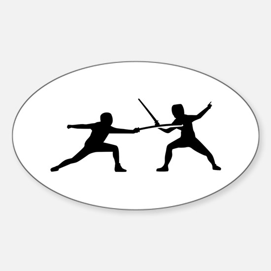 Fencing Sticker (Oval)