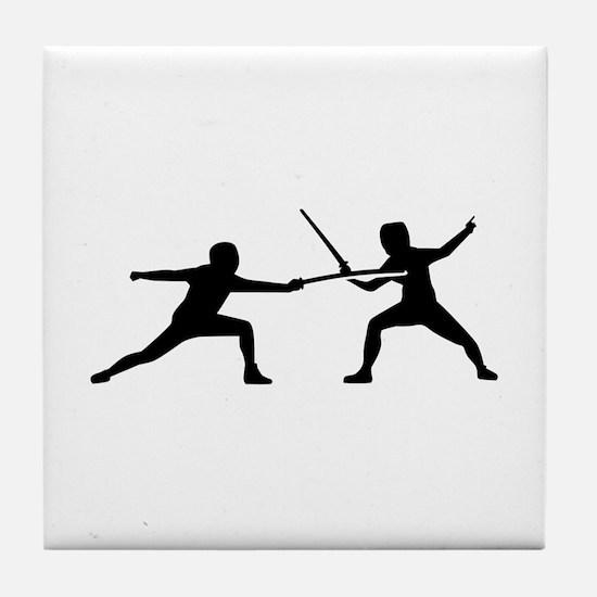 Fencing Tile Coaster